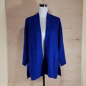 Zara Knit Blue Cardigan Size Large